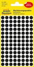 3009 Etykiety Avery Zweckfrom kółka do zaznaczania o średnicy 8mm czarne