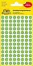 3179 Etykiety Avery Zweckfrom kółka o średnicy 8mm zielone neonowe