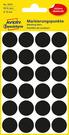 3003 Etykiety Avery Zweckfrom kółka do zaznaczania o średnicy 18mm czarne